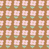 Seamless pattern background of cute flowers Royalty Free Stock Images