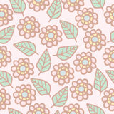Seamless pattern background of cute flowers Stock Photos
