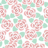 Seamless pattern background of cute flowers Royalty Free Stock Photography