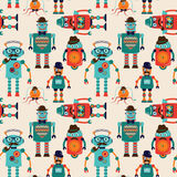 Seamless Pattern Background with Cute Hipster Royalty Free Stock Photography