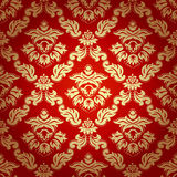 Seamless pattern background.Damask wallpaper. Stock Photos
