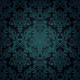 Seamless pattern background.Damask wallpaper. Vector illustration Royalty Free Stock Photos