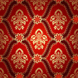 Seamless pattern background.Damask wallpaper. Royalty Free Stock Images