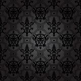 Seamless pattern background.Damask wallpaper. Stock Photo