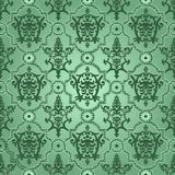 Seamless pattern background.Damask wallpaper. Seamless pattern background. Damask wallpaper. Vector illustration Stock Photo
