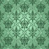 Seamless pattern background.Damask wallpaper. Stock Photo