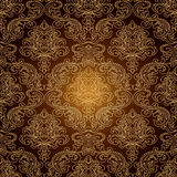 Seamless Pattern Background.Damask Wallpaper. Royalty Free Stock Photo