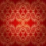 Seamless Pattern Background.Damask Wallpaper. Stock Images