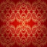Seamless Pattern Background.Damask Wallpaper. Stock Images