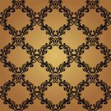 Seamless Pattern Background.Damask Wallpaper. Royalty Free Stock Photos