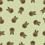 Seamless pattern background deer. Animal sleep. textile for baby. Stock Image