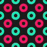 Seamless pattern background with donuts Stock Image
