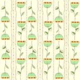 Seamless pattern background with flowers Royalty Free Stock Photos
