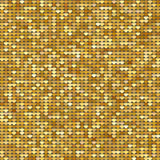 Seamless pattern background with gold glitter hearts. Vector illustration. Love concept. Cute wallpaper. Good idea for your Weddin Stock Photography