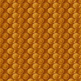 Seamless pattern, background, golden metal bicycle chain Royalty Free Stock Photos