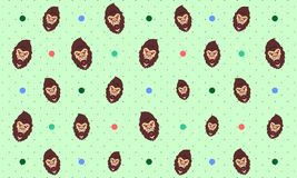 Seamless Pattern Background of Gorilla Monkey - Vector royalty free illustration