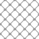 Seamless pattern, background, gray rope woven in the form fishing net Stock Photos