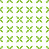 Seamless pattern background of green leafs arranged by four. Stock Photos