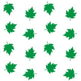 Seamless pattern background green leafs Stock Photo