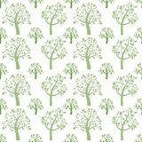 Seamless pattern background. Green tree silhouette Royalty Free Stock Photos