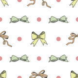 Seamless pattern background with handdrawn bows vector illustration Royalty Free Stock Image