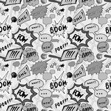 Seamless pattern background with handdrawn comic book speech bubbles, vector illustration Royalty Free Stock Photography