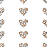 Seamless pattern background heart Royalty Free Stock Images