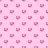 Seamless pattern background heart. Repeating heart pattern. Pink heart pattern. The Greek heart pattern Royalty Free Stock Images