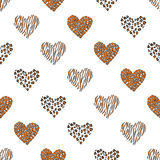 Seamless pattern background heart. Vector.  Stock Photography