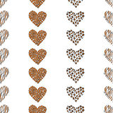 Seamless pattern background heart vector Stock Photo