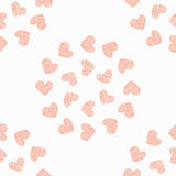 Seamless pattern background heart. Vector Royalty Free Stock Images