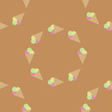 Seamless pattern background ice cream. Ice cream vector. Ice cream balls. Royalty Free Stock Photo