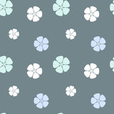 Seamless pattern background illustration with abstract hibiscus flowers. Seamless vector pattern background illustration with abstract hibiscus flowers Royalty Free Stock Photos