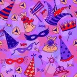 Seamless pattern background for Jewish holiday Purim Stock Photo