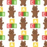Seamless pattern background full kid toys cartoon Royalty Free Stock Photo