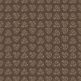 Seamless pattern background with lace heart. Brown color Stock Photos