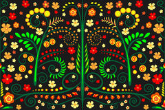 Seamless pattern. Seamless background pattern with leafs and flowers Royalty Free Stock Images