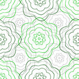 Seamless pattern background lines of roses. Vector seamless pattern stylization free ornament, background lines of roses, green and gray Royalty Free Stock Images