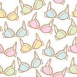 Seamless pattern background of lingerie Stock Photography