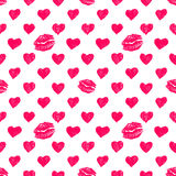 Seamless pattern background with lipsticks prints Royalty Free Stock Image