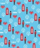 Seamless pattern background with London symbols Royalty Free Stock Photo