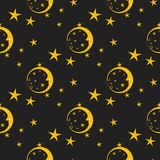 Seamless pattern background moon nature cosmos cycle  Royalty Free Stock Photo
