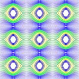 Seamless pattern background with multi-colored wavy lines. Aesthetic colored background stock illustration