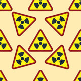 Seamless pattern background nuclear power sign vector industrial electric pollution station chimney smoke reactor symbol. Seamless pattern background nuclear Stock Images