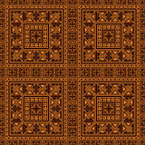 Seamless pattern background in orange and black colors. Stock Photography