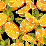Seamless pattern background with orange fruits. royalty free stock photo