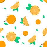Seamless pattern background with the orange vector for another artwork Royalty Free Stock Photography