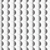 Seamless pattern background ornament of striped concentric circles. Retro mosaic of arches in black and white. Vector. Design element. Monochrome background royalty free illustration