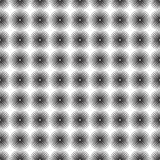 Seamless pattern background ornament of striped concentric circles. Retro mosaic of arches in black and white. Vector. Design element. Monochrome background stock illustration