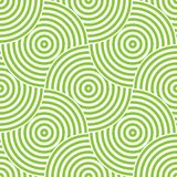 Seamless pattern background ornament of striped concentric circles. Retro mosaic of arches in green and white. Vector. Design element royalty free illustration